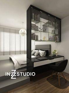 Apartment bedroom design - Ideas apartment loft modern dream homes apartment Bedroom Loft, Home Decor Bedroom, Modern Bedroom, Living Room Decor, Trendy Bedroom, Bedroom Black, Platform Bedroom, Black Bedrooms, Bedroom Wardrobe