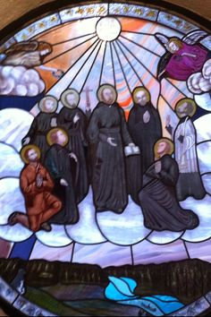 St Jean de Breboeuf, St Isaac Jogues, St Charles Garniet, St Antoine Daniel, St Gabriel Lalemant, St Noel Chabanel, St Rene Goupil, St Jean De la Lande. The Canadian Martyrs.