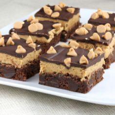 Peanut Butter Brownies look dang amazing!