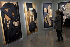Louise Nevelson Assemblage | Louise Nevelson, la sculptrice américaine du noir, exposée à Rome ...