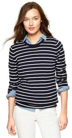 Gap Luxlight Stripe Sweater in Blue (navy stripe)   Lyst