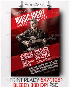 Night Music Flyer Templates  Flyer Templates