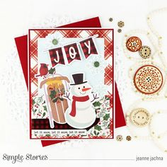 Spreadin' Good Cheer! by Jeanne Jachna – Simple Stories Christmas Greeting Cards Making, Homemade Christmas Cards, Christmas Greetings, Very Merry Christmas, 1st Christmas, Good Cheer, Jingle All The Way, Simple Stories, Cards For Friends