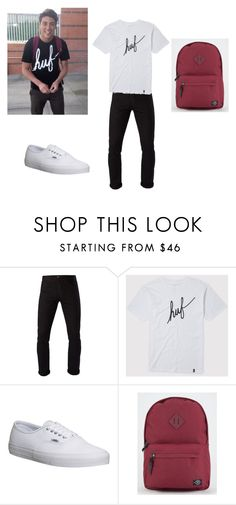 """Damn Daniel"" by wildpancakes ❤ liked on Polyvore featuring Vans, 3x1, HUF, Parkland, men's fashion and menswear"
