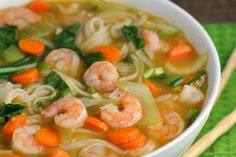 Asian Noodle Soup - I think i'll try this with ramen noodles, could be a great quick lunch or dinner. Asian Noodle Soup - I think i'll try this with ramen noodles, could be a great quick lunch or dinner. Asian Noodles, Ramen Noodles, Ramen Soup, Seafood Recipes, Cooking Recipes, Ramen Recipes, Recipes With Pho Noodles, Chinese Soup Recipes, Rice Noodle Soups