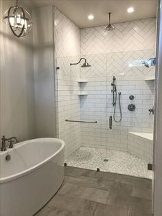 Master bath remodel cost this weeks 7 tips for a successful diy bathroom remodel cost design Modern Farmhouse Bathroom, Diy Bathroom, Master Bathroom Design, Bathroom Inspiration, Bathroom Shower Tile, Bathroom Remodel Master, Tile Remodel, Master Shower, Farmhouse Shower