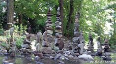 Stone balance art in Hungary by tamas kanya