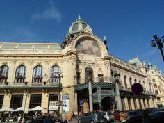 The Municipal House's stunning art nouveau exterior. Prague Old Town, Top Site, Walking Tour, Art Nouveau, Travel Destinations, Old Things, Louvre, Exterior, Building