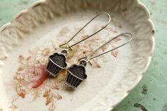 Cupcake Earrings Miniature Food Food Jewelry Shower by belmonili @belmonili