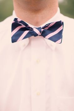 pink and navy blue bow ties for groomsmen