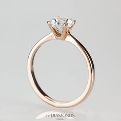 The perfect engagement ring in rose gold. #proposal #love
