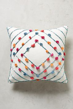 Slide View: 1: Embroidered Suzette Pillow