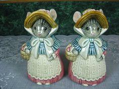 Vintage Salt  Pepper Shakers : Otagiri Mouse Salt and Pepper Shaker Set on Etsy, $41.00
