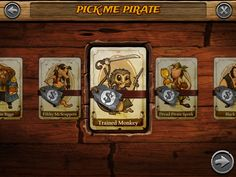Pick my pirate in a mobile game
