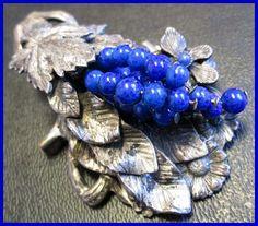 Victorian Art Nouveau Brooch Clip Blue by BrightgemsTreasures, $34.50