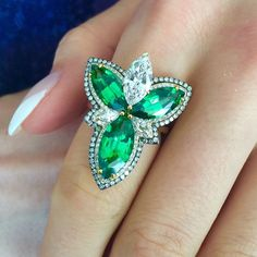"""Marvel in our enthralling high jewelery with natural gems online! #tsavorite…"
