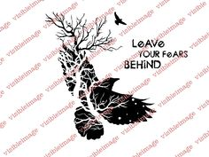 Visible Image INKognito Leave your Fears Tree Bird stamps