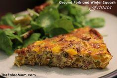 Ground Pork and Winter Squash Frittata