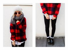 It's all about Sweater weather with Nanda Schwarz in the Highland Knit. #YAYER #fblogger