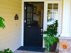 Incroyable PlastPro Smooth Fiberglass Dutch Door Painted Black. Model DRS2G With  9 Light Top And