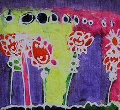 Batik painting using gel glue