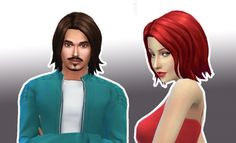 Muse Hair for Him and Her at My Stuff via Sims 4 Updates