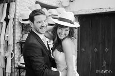 Novia con sombrero. http://www.lovelydays.es