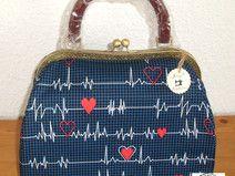 Joisys® Hebammentasche  EKG & Herzchen Stoff