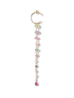 Beaded rosary style earrings