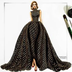 Image about art in Inspiration for Fashion Illustrations by yoncé filling out this skirt Source by fashion illustration Dress Design Drawing, Dress Design Sketches, Fashion Design Sketchbook, Dress Drawing, Fashion Design Drawings, Fashion Sketches, Moda Fashion, Fashion Week, Skirt Fashion