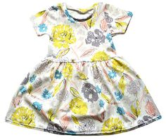 Baby/Toddler Floral Swing Dress Baby by TheHillStitchCompany