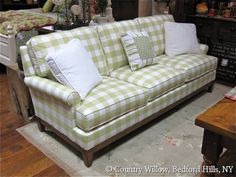 Sofa available in loveseat, apartment sofa, sofa and chair. Over 1000 fabrics, many cushion options- Country Willow Furniture