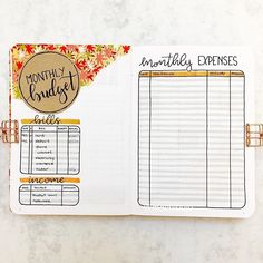 10 Bullet Journal Money Trackers To Manage Your Finances - : LOVE these! 10 Bullet Journal Ideas to Organize Your Money. Easy Ways to start using bullet journals for your money. Bullet Journal Tracker, Bullet Journal Expenses, Bullet Journal Writing, Bullet Journal Layout, Bullet Journal Inspiration, Journal Pages, Bullet Journals, Journal Ideas, Journal Themes