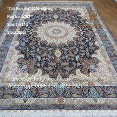 Handmade silk carpet from Yilong Carpet factory . Size: 10x14ft
