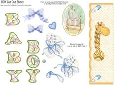 photo Baby.jpg - cut out sheet for baby boy card
