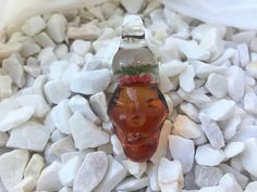 lampwork borosilicate glass shaman sculptured pendant