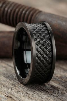 The perfect gift for your man - buy mens jewelry, mens costume jewelry rings, mens costume jewelry Style Masculin, Men's Accessories, Wedding Men, Rustic Wedding, Matte Black, Jewelry Design, Bling, Gifts, Ruby Rings