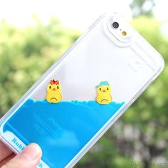 Wow~ I found Cute Bathing Little Duck One Piece Blue Liquid IPhone 5/5S/6/6S…