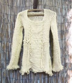 Sprang sweater - multiple thread interlinking and interlacing