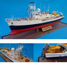 Calypso ship of Jacques Cousteau. Unknown modeler #scalemodel #jacquescousteau #hobby #modelismo #diorama #modelism #modelisme #miniatura #miniature #miniatur #maqueta #maquette #usinadoskits #udk #calypso #navio #ship #scalemodelship #cousteau