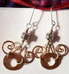 Copper washer earrings II by *artefaccio on deviantART