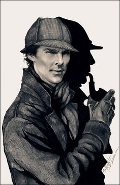 The old and the new: There are still shadows of the old Sherlock in the modern version:)