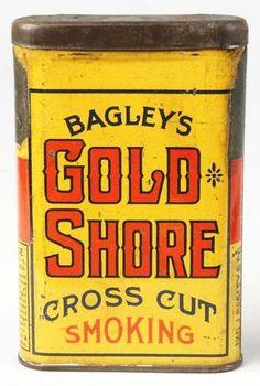Gold Shore Cross Cut Tin