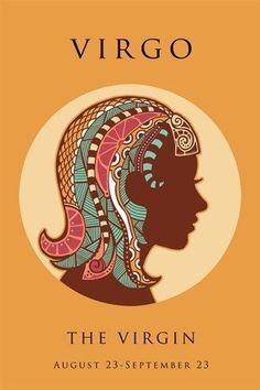 virgo astrology art poster 24X36 ORIGINAL SYMBOLIC THE VIRGIN colorful HOT