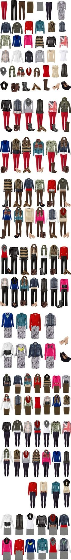 """Capsule Wardrobe -- Fall/Winter"" by cocogolightly on Polyvore - having a few…"