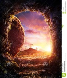 Photo about Empty Tomb - Crucifixion And Resurrection Of Jesus Christ. Image of christ, burial, entrance - 111407375 La Passion Du Christ, Marshmello Wallpapers, Empty Tomb, Pictures Of Jesus Christ, Easter Pictures Of Jesus, Jesus Christus, Jesus Resurrection, Jesus Is Lord, Christian Art