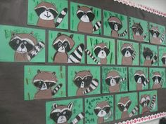 value, animals, ARTventurous: Raccoons. Whenever I see raccoons, I think of the book The Kissing Hand - which could easily be added! Brown paper and black and white oil pastels. Animal Art Projects, Fall Art Projects, School Art Projects, Raccoon Art, Racoon, First Grade Art, Kindergarten Art Projects, Ecole Art, Art Lessons Elementary