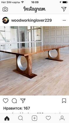 Diy Home Furniture, Solid Wood Furniture, Woodworking Furniture, Unique Furniture, Table Furniture, Furniture Design, Wooden Dining Table Designs, Wooden Dining Tables, Dining Room Table