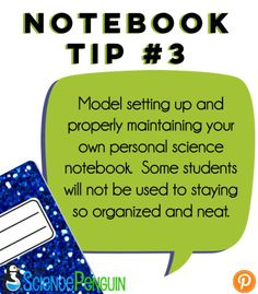 My Interactive Science Notebook for 5th Grade-- First Week Tips