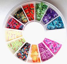 120-PcsCool Popular 3D Random Mixed Fimo Nail Art Wheel Polymer Clay Slices Colorful Decoration Salon Supplies Type Butterfly -- Learn more by visiting the image link. (Note:Amazon affiliate link) #Makeuporganization